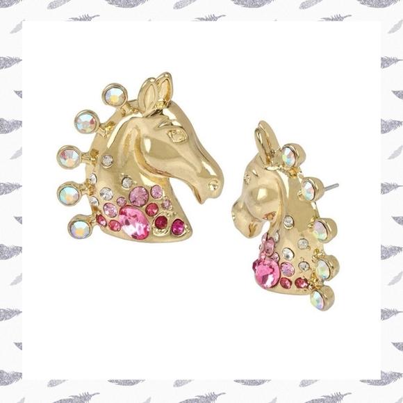 Betsey Johnson Magical Show Horse Earrings